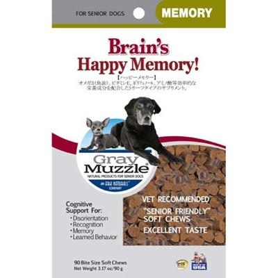 ビビッド アークナチュラルズ Grey Muzzle ハッピーメモリー 90g 【ペット用品 犬用食品(フード・おやつ) 犬用サプリメント DHA(犬用)】の画像
