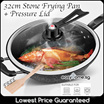 32cm Stone Frying Pan N Vacuum Lid / Omelette Pan/ Stainless Steel Wok/ 4egg Pan/ Ceramic Pan