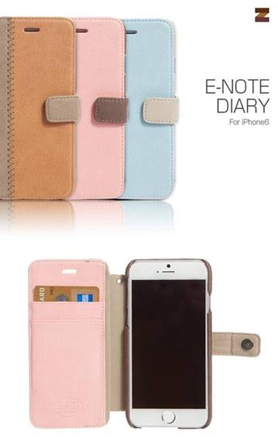 iPhone6カバーアイホン6 アイフォン6ケースiphoneケース アイフォン ブランド iphoneカバーiPhone6用 【iPhone6 4.7インチ 】ZENUS E-note Diary(イーノートダイアリー)【レビューを書いてメール便送料無料】の画像