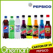 [PEPSI] 24 x 500ml Bottled Drink ★ CARTON SALE ★ Pepsi / 7-UP / Mountain Dew / Revive / MUG