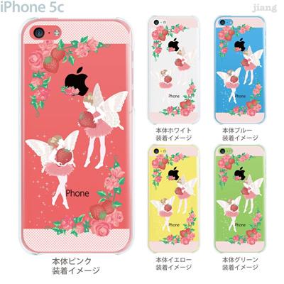 【iPhone5c】【iPhone5cケース】【iPhone5cカバー】【iPhone ケース】【クリア カバー】【スマホケース】【クリアケース】【イラスト】【クリアーアーツ】【いちごとフェアリー】 09-ip5c-ca0036の画像