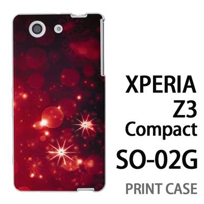XPERIA Z3 Compact SO-02G 用『1223 雪ネオン 赤』特殊印刷ケース【 xperia z3 compact so-02g so02g SO02G xperiaz3 エクスペリア エクスペリアz3 コンパクト docomo ケース プリント カバー スマホケース スマホカバー】の画像