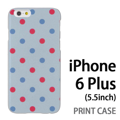 iPhone6 Plus (5.5インチ) 用『0823 斜めドット 水』特殊印刷ケース【 iphone6 plus iphone アイフォン アイフォン6 プラス au docomo softbank Apple ケース プリント カバー スマホケース スマホカバー 】の画像