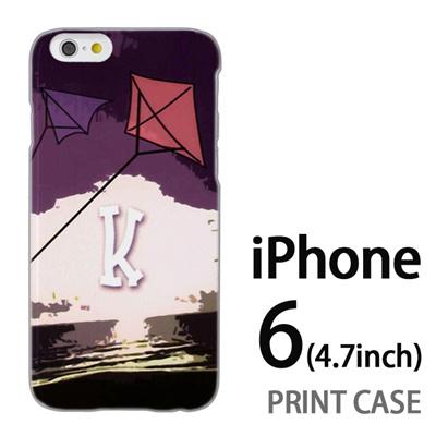 iPhone6 (4.7インチ) 用『No1 K 空に上がるタコ』特殊印刷ケース【 iphone6 iphone アイフォン アイフォン6 au docomo softbank Apple ケース プリント カバー スマホケース スマホカバー 】の画像