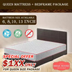 BESTSELLER! Queen Mattress + Bedframe Package | Free Delivery and Installation | 6 8 10 13 inch