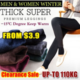 SG Delivery!Buy 3 Free Shipping!  Women/Men Winter Leggings/ Plus size Winter Legging Thermal wear/winter inner wear/-15 degree keep warm/ inner wear/Women pants/Mens pants/Women legging