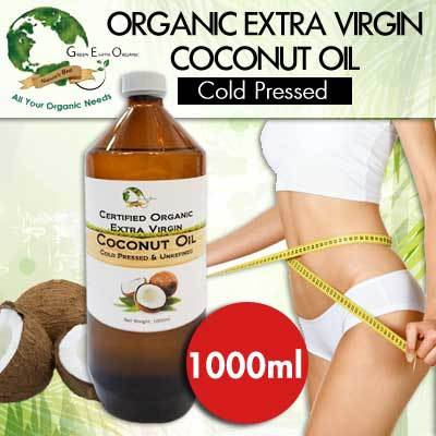 Organic Extra Virgin Coconut Oil 1000ml Unrefined Deals for only S$59 instead of S$0