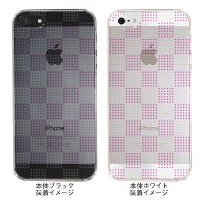 【iPhone5S】【iPhone5】【Clear Arts】【iPhone5ケース】【カバー】【スマホケース】【クリアケース】【チェック・ボーダー・ドット】【ドットボックス】【ピンク】 ip5-06ca051a-pの画像
