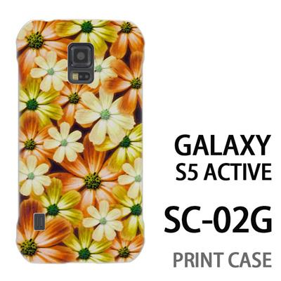 GALAXY S5 Active SC-02G 用『No4 マーブルフラワー』特殊印刷ケース【 galaxy s5 active SC-02G sc02g SC02G galaxys5 ギャラクシー ギャラクシーs5 アクティブ docomo ケース プリント カバー スマホケース スマホカバー】の画像