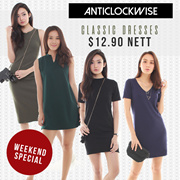 23.08 NEW IN/RESTOCKED - [ANTICLOCKWISE] CLASSIC DRESSES