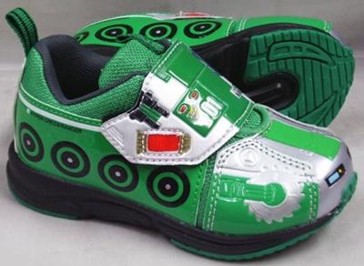 (A倉庫)【TOMICA】トミカ 10534 ハイパーグリーンレンジャー 子供靴 スニーカー 男の子 マジックテープ モデル キッズ キャラクター シューズの画像