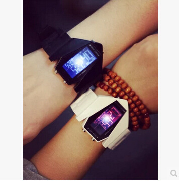 Qoo10SingaporeKorean version of the Creative CF Colorful LED luminous personality tide watches female Korean influx of male high school students Harajuku Lover watch?SB_child clothing