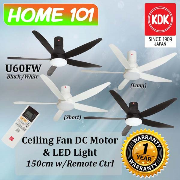 Kdk Dc Motor Ceiling Fan 150cm W Led Light U60fw