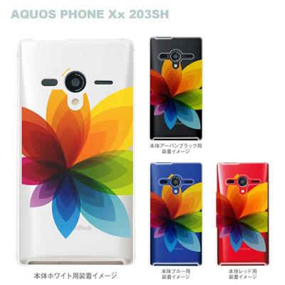 【AQUOS PHONEケース】【203SH】【Soft Bank】【カバー】【スマホケース】【クリアケース】【フラワー】 22-203sh-ca0031の画像
