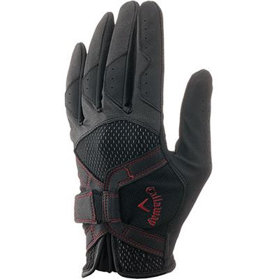 キャロウェイ(Callaway) テック(TECH)グローブ 15 JM (左手装着用) BLK/RED 【メンズ ゴルフ 手袋】の画像