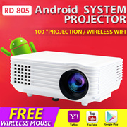 🌟Android PROJECTOR WIFI PROJECTOR RD805🌟1080P USB 3.0 mini portable projec