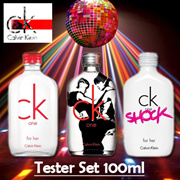 Tester Set CK ONE EDITION FOR HER EDT 100ML ♣ CK ONE COLLECTOR's Bottle 2008 (EDT/Unisex) 100ML ♣ CK ONE SHOCK FOR HER EDT 200ML♣