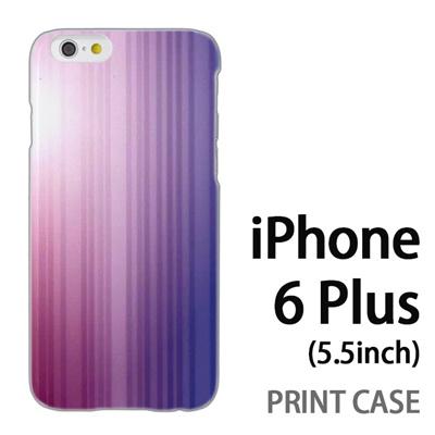 iPhone6 Plus (5.5インチ) 用『0824 グラデーション 紫青』特殊印刷ケース【 iphone6 plus iphone アイフォン アイフォン6 プラス au docomo softbank Apple ケース プリント カバー スマホケース スマホカバー 】の画像
