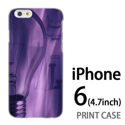 iPhone6 (4.7インチ) 用『No1 L 電球アップ』特殊印刷ケース【 iphone6 iphone アイフォン アイフォン6 au docomo softbank Apple ケース プリント カバー スマホケース スマホカバー 】の画像