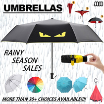 ★RAINY SEASON SALES ★UMBRELLAS ★AUTOMATIC/MANUAL ★Nano 5 Fold Umbrella ★Reverse Umbrella ★ Double Layer Design Inverted ★Super Large ★99% UV Light Protection ★ Flower Blooming
