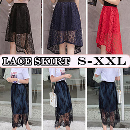 2008 new products on the market lace spliced half-length skirt casual fashion jeans lace skirt