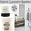 Fabric Laundry Basket/ Plan to Wash/ Laundry Rules/ Foldable Linen Dirty Clothes Basket Zakka Style