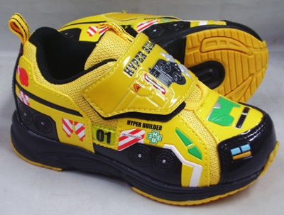 (A倉庫)【TOMICA】トミカ 10535 ハイパービルダー 子供靴 スニーカー 男の子 マジックテープ モデル キッズ キャラクター シューズの画像
