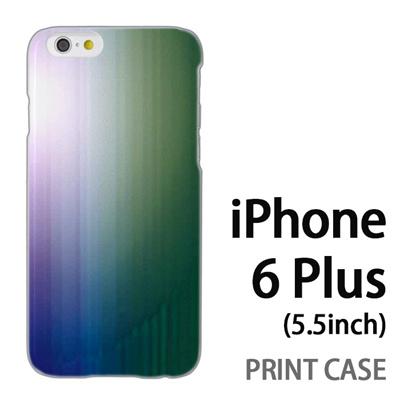 iPhone6 Plus (5.5インチ) 用『0824 グラデーション 青緑』特殊印刷ケース【 iphone6 plus iphone アイフォン アイフォン6 プラス au docomo softbank Apple ケース プリント カバー スマホケース スマホカバー 】の画像