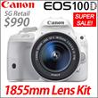 [1DAY Super Big Deal!]Canon EOS 100D 1855 Lens Kit Save $500! 50% SALE!!