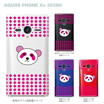 【AQUOS PHONEケース】【203SH】【Soft Bank】【カバー】【スマホケース】【クリアケース】【Clear Fashion】【アニマル】【パンダ】 22-203sh-ca0051の画像