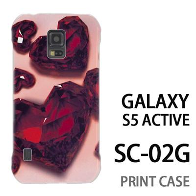 GALAXY S5 Active SC-02G 用『0115 ガラスのハートいっぱい 赤』特殊印刷ケース【 galaxy s5 active SC-02G sc02g SC02G galaxys5 ギャラクシー ギャラクシーs5 アクティブ docomo ケース プリント カバー スマホケース スマホカバー】の画像