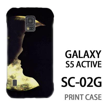 GALAXY S5 Active SC-02G 用『No4 月と女』特殊印刷ケース【 galaxy s5 active SC-02G sc02g SC02G galaxys5 ギャラクシー ギャラクシーs5 アクティブ docomo ケース プリント カバー スマホケース スマホカバー】の画像