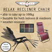 (BEST SELLER 2016!) ★WINNING★ Foldable Recliner Relax Chair / Premium lounger! FREE SHIPPING!