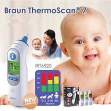 Authentic▶New Braun ThermoScan® 7 Ear Thermometer◀BABY GFA GDC-Braun IRT-6520