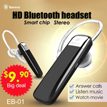 Baseus/wireless Bluetooth earphone/sports earphone/answer call/listen music/watch movie/only need to reply yes or no to answer/reject calls (model S5)headphone for iphone smsung xiaomi htc acer etc