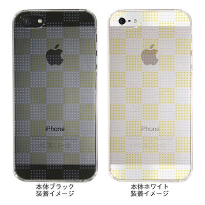 【iPhone5S】【iPhone5】【Clear Arts】【iPhone5ケース】【カバー】【スマホケース】【クリアケース】【チェック・ボーダー・ドット】【ドットボックス】【イエロー】 ip5-06ca051a-yの画像