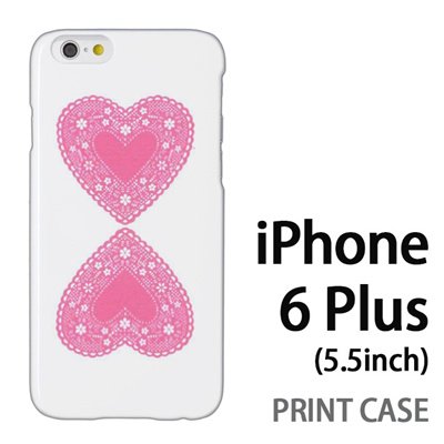 iPhone6 Plus (5.5インチ) 用『0825 ピンクハート』特殊印刷ケース【 iphone6 plus iphone アイフォン アイフォン6 プラス au docomo softbank Apple ケース プリント カバー スマホケース スマホカバー 】の画像