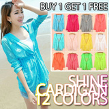 【Free Shipping】【BUY 1 GET 1 FREE】SUMMER Sun Protection Cardigans Jacket Blazers Blazer Candy Color Jackets Short Dress Blouse Tops CARDIGAN 10 COLORS- Limited time offer