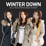 2015 winter clothing new Korean fashion Winter Down Jacket [buy 2 free shipping]