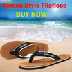 [Singapore Seller] Soft Comfortable Beach Korean Non-Slippery Leisure/ Casual Flip-Flops/ Slippers