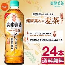 【送料無料】爽健美茶 健康素材の麦茶 600mlPET×24本 [機能性表示食品]