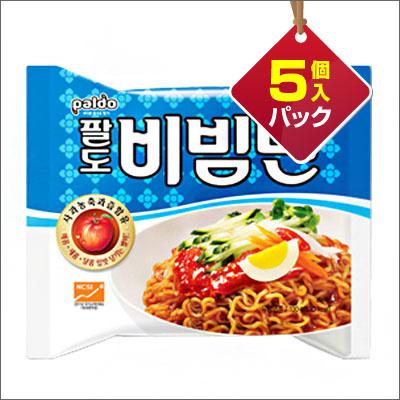 【韓国食品・韓国ラーメン】■『Paldo』ビビン麺(5個入りパック)■の画像