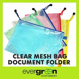 A3A4A5B4B5 file folder clear mesh bag document folder with zipper