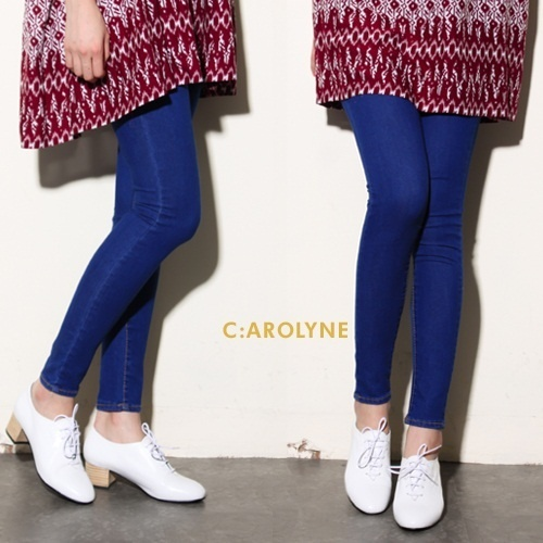 [H by carolyne]ハイウエストブルージーンズスキニー/ Half high-waist blue skinny
