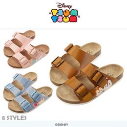 ♥New Arrival♥Gracegift-Disney TsumTsum Dual Strap Buckle Sandals Slippers/Women Shoes