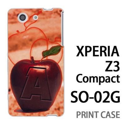 XPERIA Z3 Compact SO-02G 用『No1 A 赤りんご』特殊印刷ケース【 xperia z3 compact so-02g so02g SO02G xperiaz3 エクスペリア エクスペリアz3 コンパクト docomo ケース プリント カバー スマホケース スマホカバー】の画像