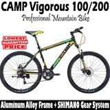 CAMP Vigorous 100/200 Professional Mountain Bike with Full SHIMANO gear and aircraft grade alloy frame