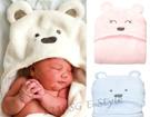 Baby Hood Towel Blanket Wrap Cute Cater Oshkosh Bgosh Girl Boy Premium High Quality Branded Hello Kitty Animals Design