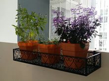 Balcony Parapet Railings plants flower pots hanging racks corridor 盆栽架 Sturdy Enhanced