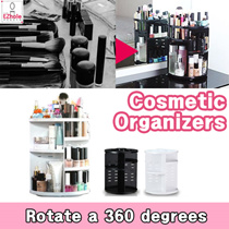 Cosmetic organizers Rotate a 360 Degree Makeup case holder Makeup Jewelry Box Jewelry Organizer Desk